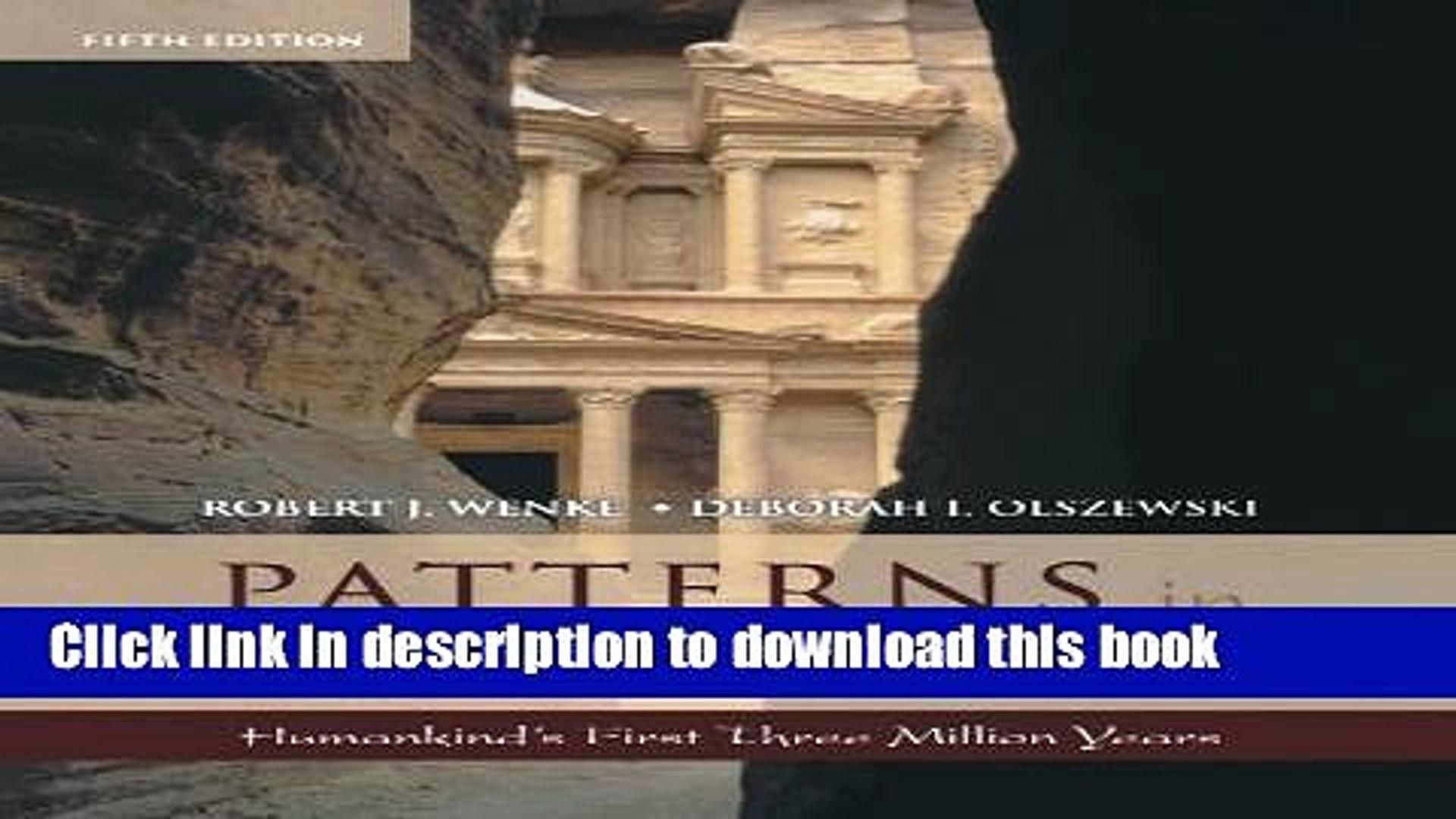 Patterns In Prehistory Wenke Pdf Download