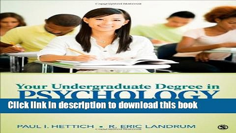 Read Your Undergraduate Degree in Psychology: From College to Career Ebook PDF
