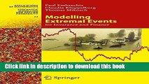 Read Modelling Extremal Events: for Insurance and Finance (Stochastic Modelling and Applied