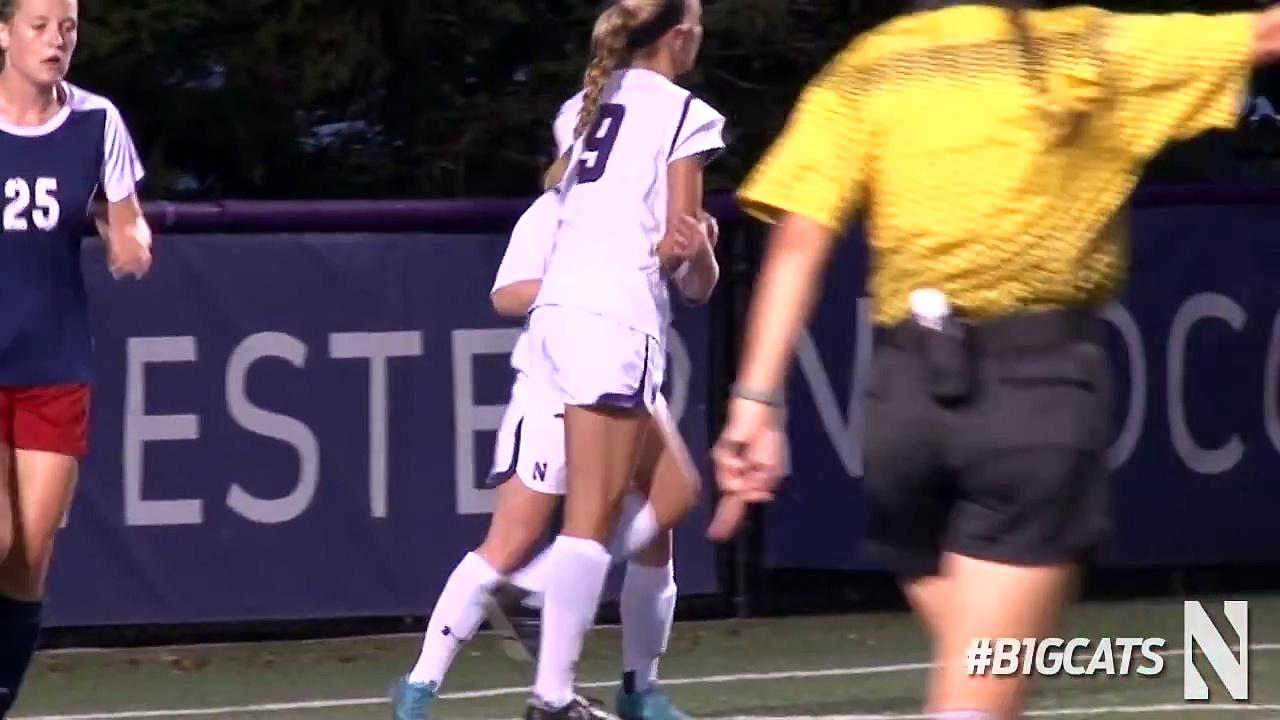 Northwestern Women's Soccer – UIC Game Highlights (8/27/14)