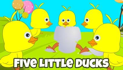Five little ducks Swimming