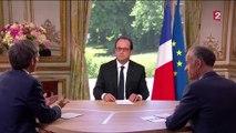"""François Hollande au sujet de Macron : """"Dans un gouvernement il y a des règles. Ne pas les respecter c'est ne pas y rester""""."""