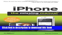 Download iPhone: The Missing Manual (Missing Manuals) Ebook PDF