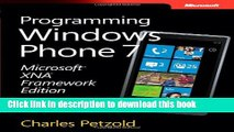 Download Microsoft XNA Framework Edition Programming Windows