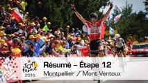 Résumé - Étape 12 (Montpellier / Mont Ventoux) - Tour de France 2016