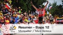 Resumen - Etapa 12 (Montpellier / Mont Ventoux) - Tour de France 2016