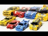 Transformers Bumblebee Tobot Mini pop Transformation Car Toys 트랜스포머 범블비 또봇 삼총사 미니팝 자동차 장난감 변신 동영상