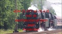 VSM met de 23-071 en de 23-076 met Westfalendampf rit naar Amsterdam