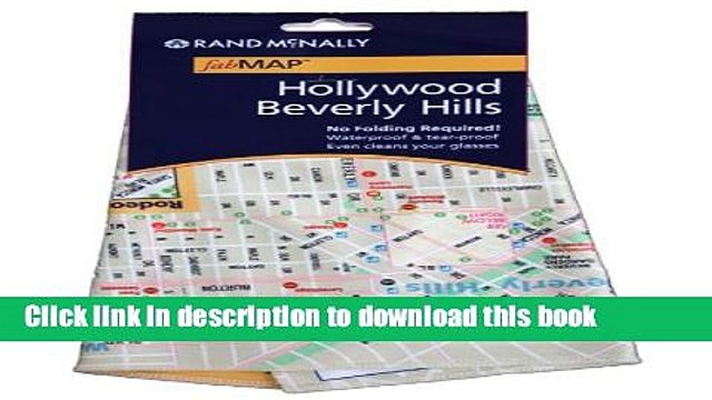 Read Rand McNally fabMap Hollywood Beverly Hills (Rand McNally fabMAP Hollywood and Beverly Hills)