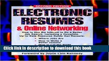 Read Electronic Resumes   Online Marketing,: Second Edition (Electronic Resumes   Online