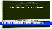 Read The Tools   Techniques of Financial Planning, 10th Edition (Tools and Techniques of Financial