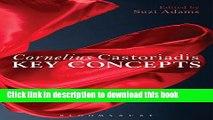 Download Cornelius Castoriadis: Key Concepts  Ebook Free