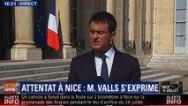 """Valls : """"Un deuil national décrété les 16, 17 et 18 juillet"""""""