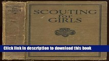 Download Scouting For Girls: Official Handbook Of The Girl Scouts  EBook