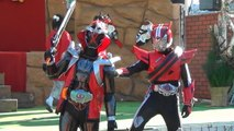 """""""Photo session 1"""" Kamen Rider ghost Musashi soul and Kamen Rider drive appeared!"""