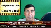 New York Yankees vs. Texas Rangers Pick Prediction MLB Baseball Odds Preview 6-30-2016