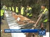 Armas decomisadas entre enero y junio fueron destruidas