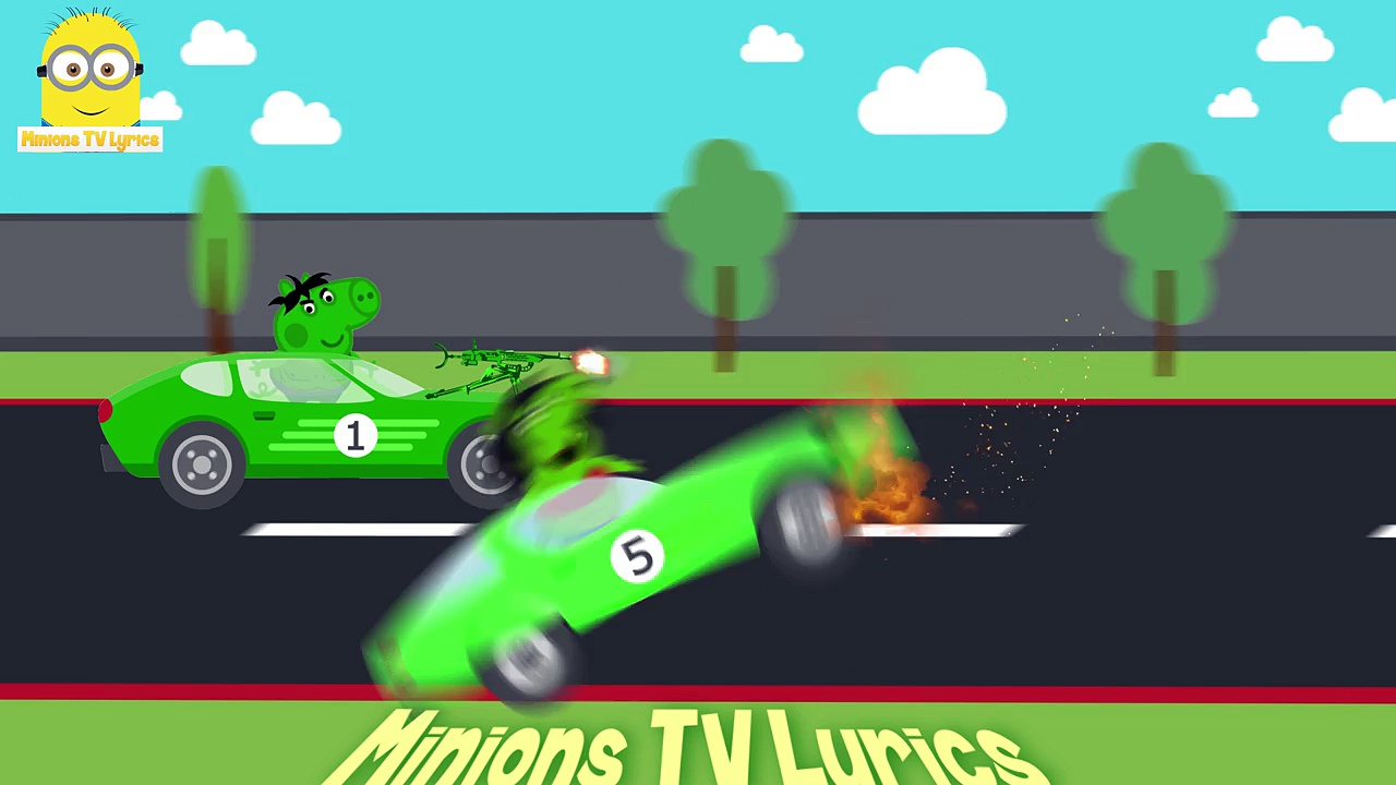 Peppa Pig Hulk Formula 1 Car Race VS Sister Pig Hulk - Funny Animated Car Race Tournament For Kids