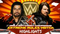 Extreme Rules 2016 - Extreme Rules Match - Roman Reigns vs AJ Styles Highlights