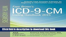 Read ICD-9-CM Coding Handbook, with Answers, 2015 Rev. Ed. (ICD-9-CM Coding Handbook with Answers