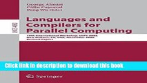 Read Languages and Compilers for Parallel Computing: 19th International Workshop, LCPC 2006, New