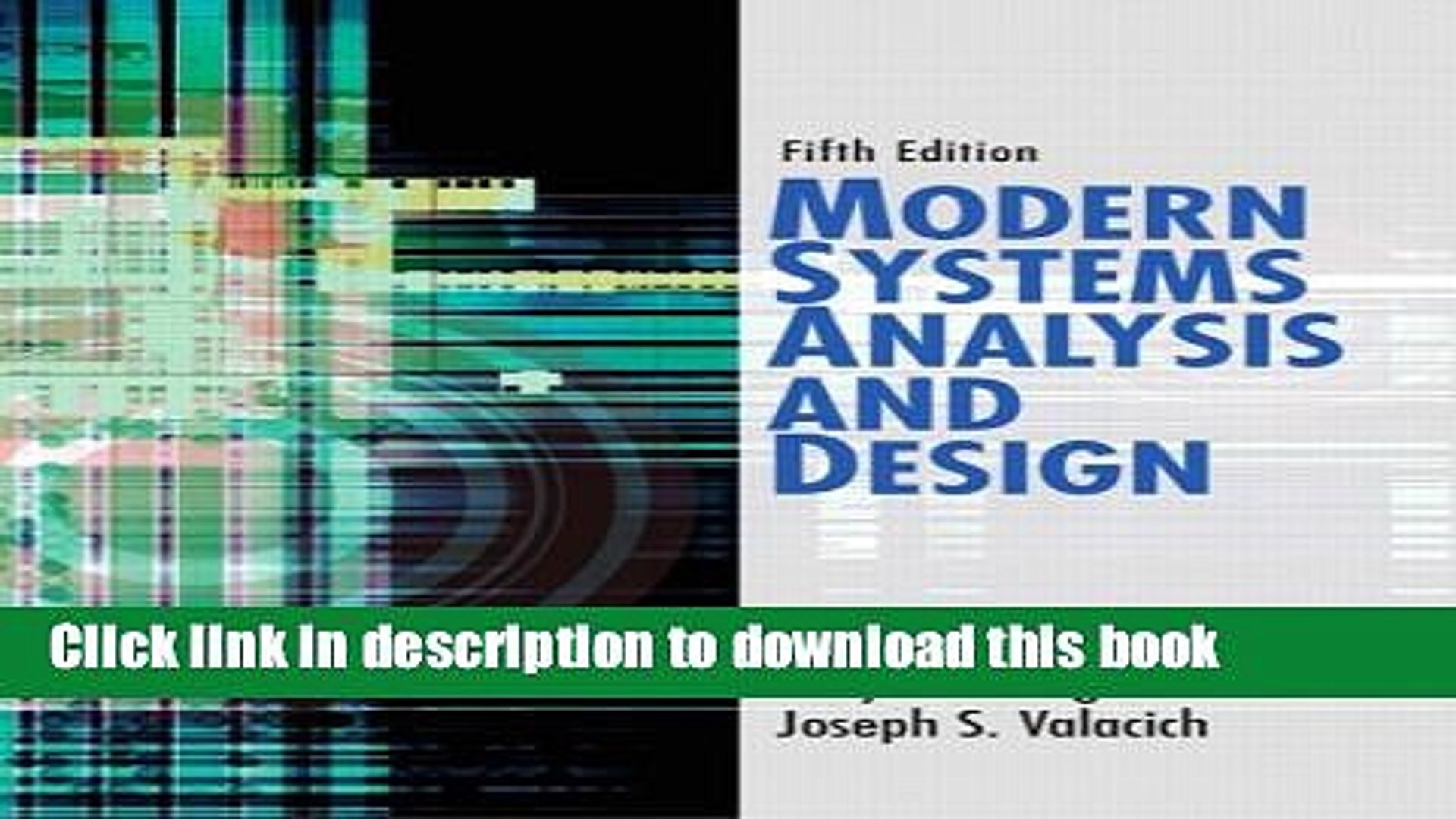 Download Modern Systems Analysis And Design 5th Edition Pdf Online Video Dailymotion