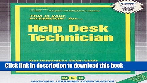 Download Help Desk Technician: Test Preparation Study Guide, Questions   Answers PDF Online