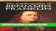 Read The Autobiography of Benjamin Franklin Ebook Free