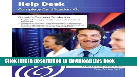 Read [(Help Desk Complete Certification Kit – Core Series for It )] [Author: Ivanka Menken]