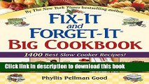 Download Fix-It and Forget-It Big Cookbook: 1400 Best Slow Cooker Recipes! Free Books