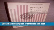 Download Philosophy of Social Science (Foundations of Philosophy Series)  Ebook Free