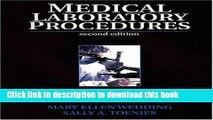 [PDF]  Medical Laboratory Procedures  [Download] Full Ebook