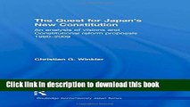 Read The Quest for Japan s New Constitution: An Analysis of Visions and Constitutional Reform