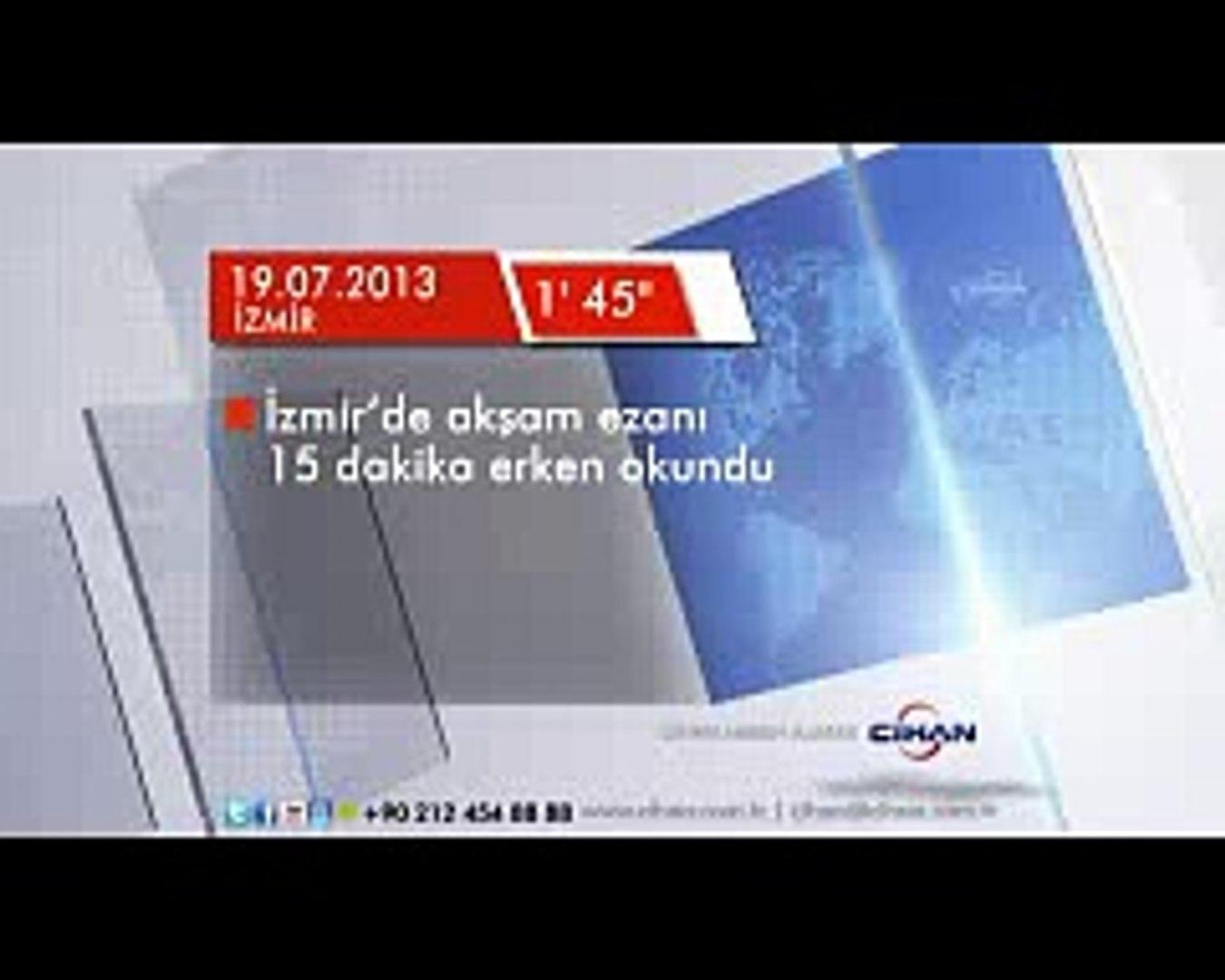 Izmir De Aksam Ezani 15 Dakika Erken Okundu Izmir Konak