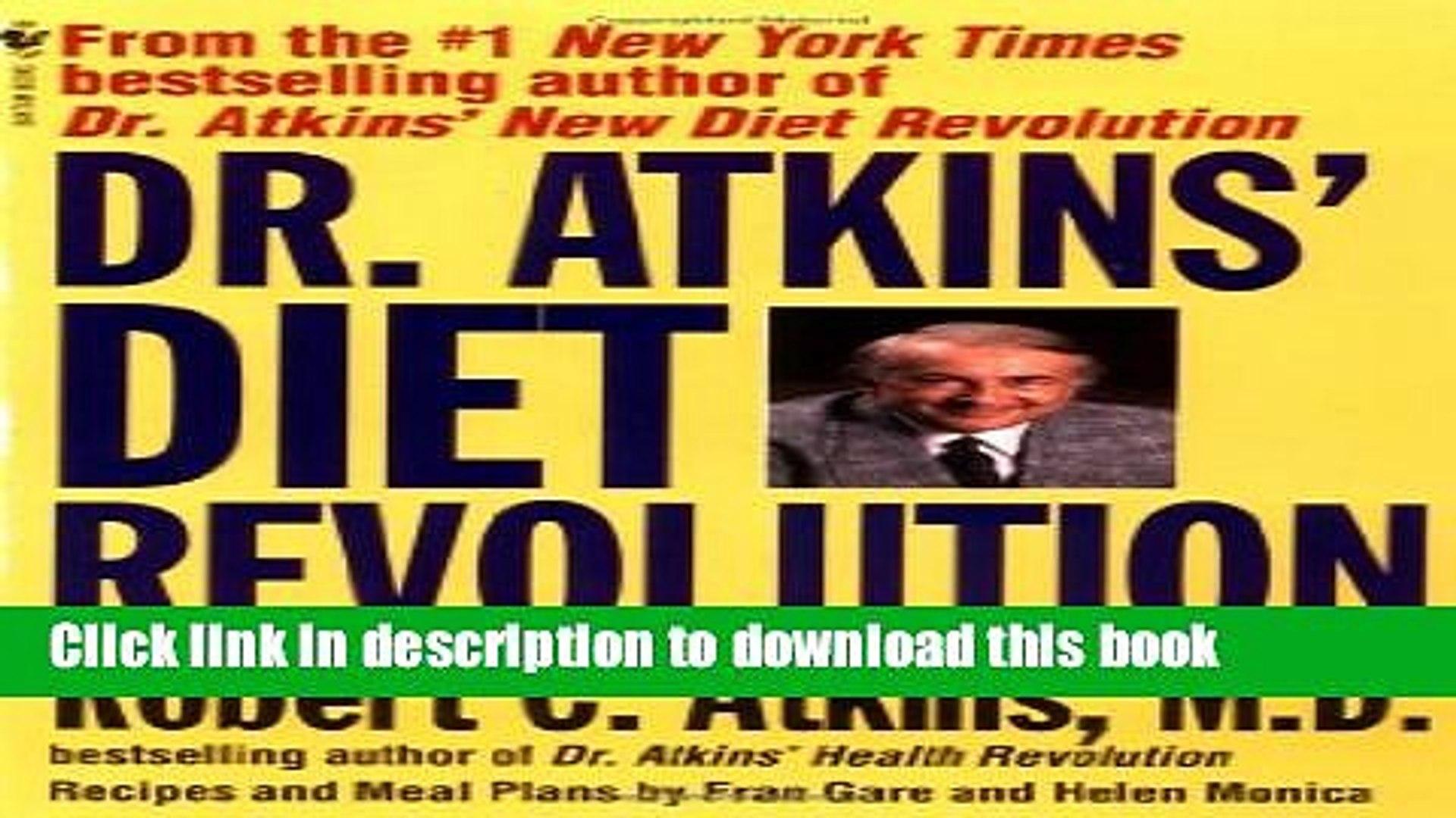 Read Dr Atkins Diet Revolution Ebook Online Video Dailymotion