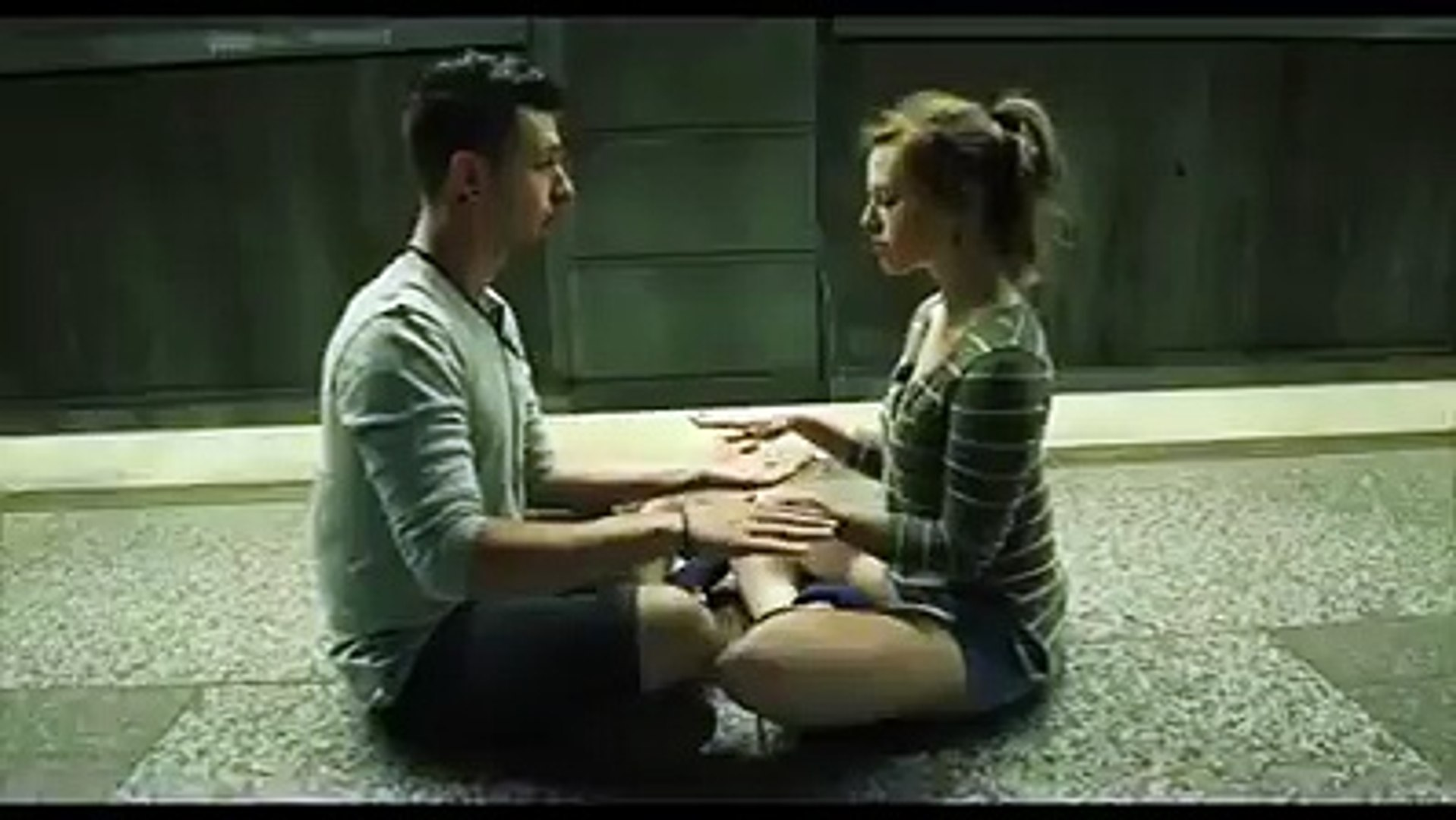 Two guys romantic dance on the railway-station with kissings - desi girls vidoe