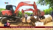 Tiến độ di dời bùn thải của Formosa ra khỏi rừng tràm ở Hà Tĩnh.