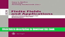 Read Finite Fields and Applications: 7th International Conference, Fq7, Toulouse, France, May 5-9,