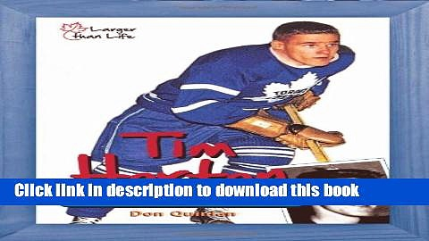 Read Tim Horton: From Stanley Cups to Coffee Cups Ebook Free
