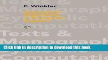 Read Polynomial Algorithms in Computer Algebra (Texts   Monographs in Symbolic Computation) Ebook