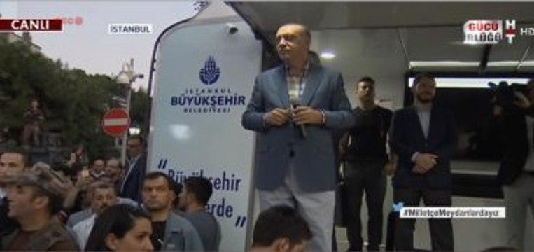 Erdoğan'ın Konuşmasını Bölen Slogan: FETÖ'ye İdam