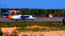 Plane Spotting HD: LIAT Landing & Departing Axa (17-05-12)