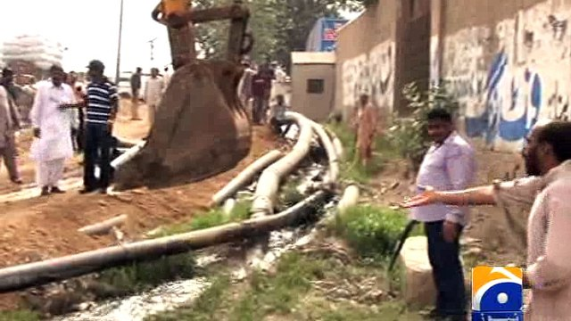 Operation against illegal water connection in Karachi -16 July 2016