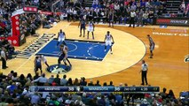 Karl-Anthony Towns Dunks Over Matt Barnes   Grizzlies vs Timberwolves   Jan 23, 2016   NBA