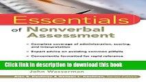 Read Book Essentials of Nonverbal Assessment ebook textbooks