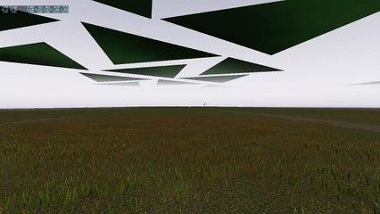 "X-plane 10 ... Testing ""frame rate friendly"" grass"