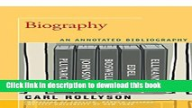 Read Biography: An Annotated Bibliography Ebook Free