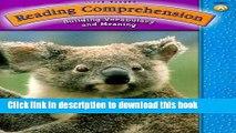 Read Steck-Vaughn Reading Comprehension: Student Workbook Grade 1 (Level A) ebook textbooks