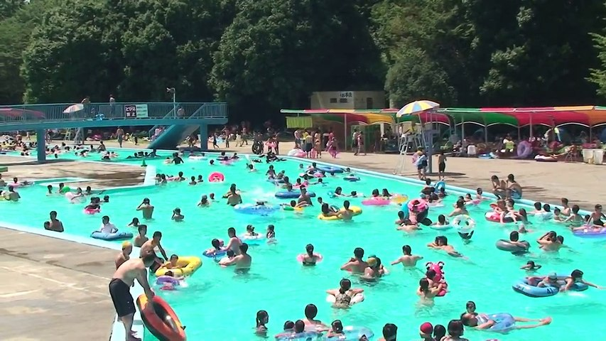 2009.08.15 【HD】 栃木県真岡市 井頭公園 一万人プール