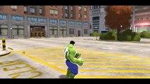 Hulk & Spiderman Car Fun! CARS Yellow & Green McQueen Avengers with Lightning McQueen_7